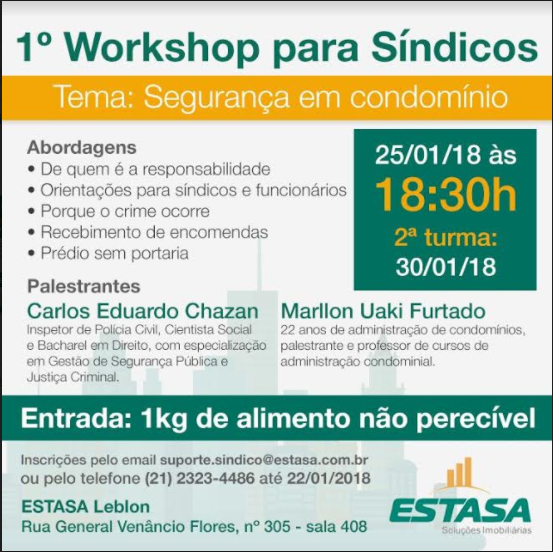 """Foto que acompanha a matéria """"#EstasaNaMídia: Nosso workshop para síndicos saiu no O Globo!"""""""