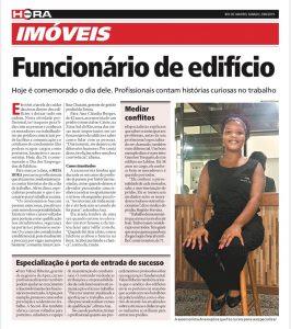 Arte da matéria do Jornal Extra para a pauta Dia 29 de Junho Homenagem ao Funcionário de edifício do Blog da Estasa
