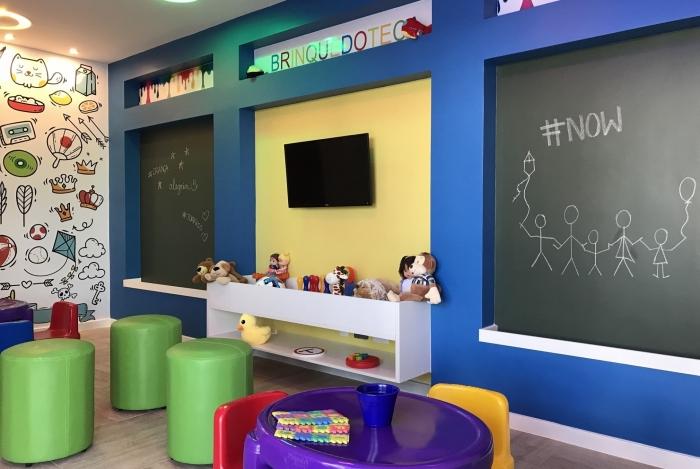 """Foto de uma brinquedoteca para a pauta: """"Área de Lazer dos condomínios são opções para entreter a garotada durante o recesso escolar"""" para o Blog da Estasa"""