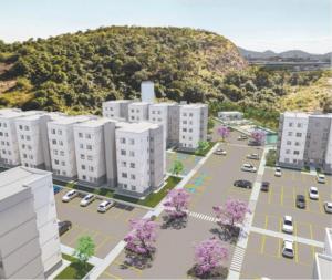"""Montagem de prédios de um condomínio para a pauta """"eSocial: Envio das informações somente em 2020"""" para o Blog da Estasa."""